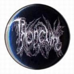 THRONEUM Logo (black) - button badge