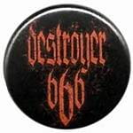 DESTROYER 666 logo - button badge