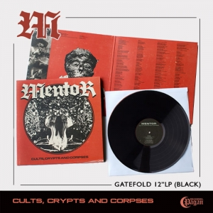 MENTOR Cults, Crypts and Corpses (BLACK) LP