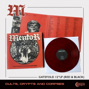 MENTOR Cults, Crypts and Corpses (RED & BLACK) LP