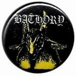 BATHORY yellow goat - button badge