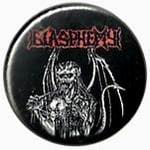 BLASPHEMY Demon - button badge