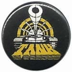 TANK logo - przypinka - button badge