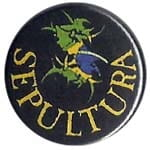 SEPULTURA Brazil - przypinka - button badge