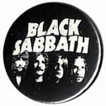 BLACK SABBATH band - button badge