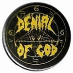 DENIAL OF GOD logo - button badge