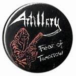 ARTILLERY Fear of Tomorrow - button badge