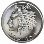 ANTHRAX Indians - przypinka - button badge